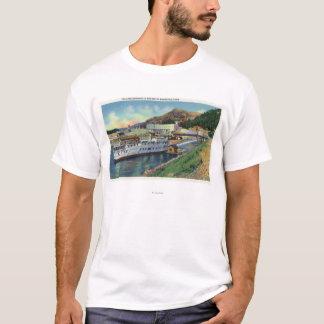でつながれるOregonLake Bonnevilleの汽船 Tシャツ