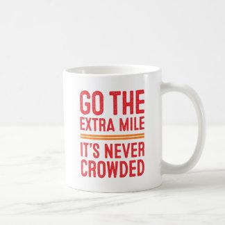ではないです決して混雑させたマグ余分マイル、それは行きません コーヒーマグカップ