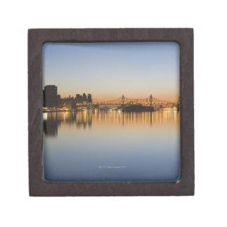 でイースト・リバー上のマンハッタンから見られる ギフトボックス