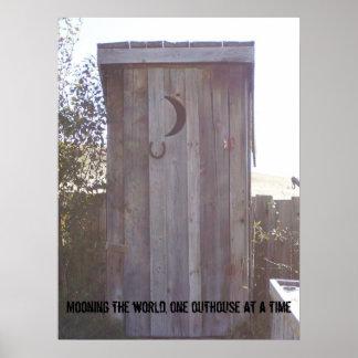 で世界を、1つの離れ家うろつく100_1958… ポスター