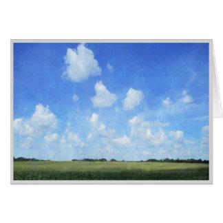 とうもろこし畑および青空 グリーティングカード