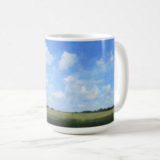 とうもろこし畑および青空 コーヒーマグカップ