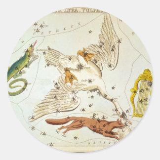 とかげ座、白鳥座、Lyra、VulpeculaおよびAnser ラウンドシール