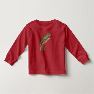とげだらけのカメレオンの長袖の幼児のティー トドラーTシャツ