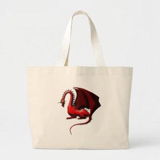 とげ、赤いドラゴン ラージトートバッグ