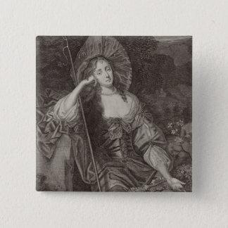 としてCleaveland (1641-1709年)のバーバラの公爵夫人彼女 5.1cm 正方形バッジ