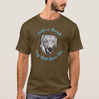 とって下さい休み(Rhodesian Ridgeback)を Tシャツ