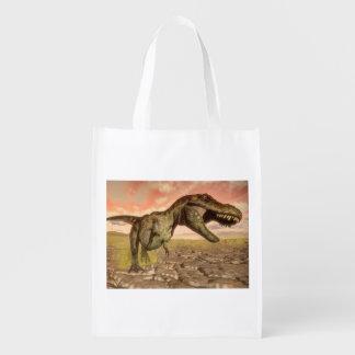とどろいているティラノサウルス・レックスのレックスの恐竜 エコバッグ