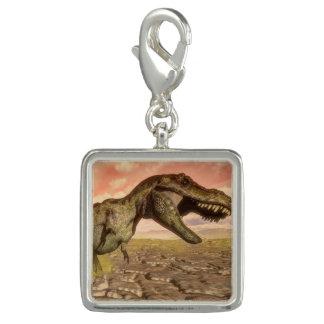 とどろいているティラノサウルス・レックスのレックスの恐竜 チャーム