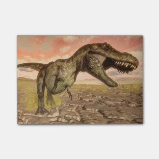 とどろいているティラノサウルス・レックスのレックスの恐竜 ポストイット