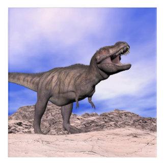 とどろいているティラノサウルス・レックス- 3Dは描写します アクリルウォールアート