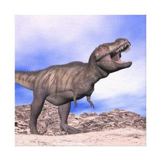 とどろいているティラノサウルス・レックス- 3Dは描写します キャンバスプリント