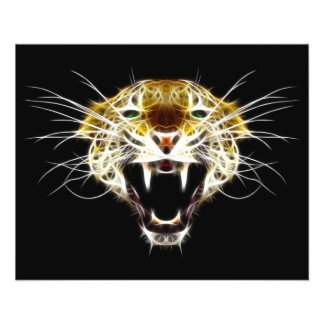 とどろくヒョウの頭部猫 チラシ