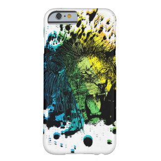 とどろくライオンおよび虹の抽象芸術 BARELY THERE iPhone 6 ケース