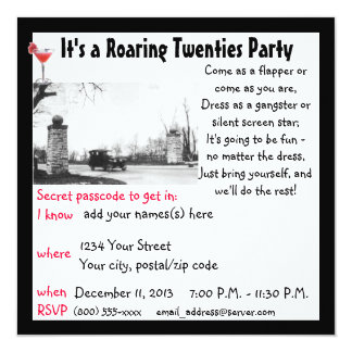 とどろく二十代のもぐり酒場のテーマのパーティー カード