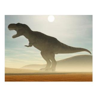 とどろく恐竜の郵便はがき ポストカード
