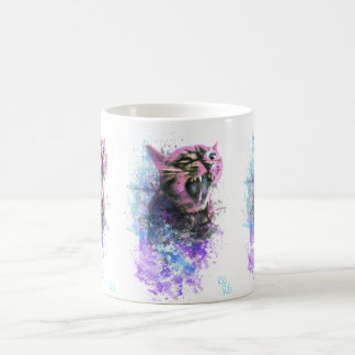 とどろく猫水色 コーヒーマグカップ