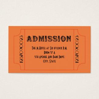 とどろく20年代のもぐり酒場のテーマのパーティーのチケット 名刺
