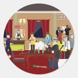 とどろく20年代のもぐり酒場米国(シンプルな歴史) ラウンドシール