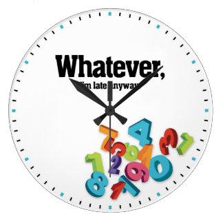 とにかく遅い装飾的な柱時計は、私であるものは何でも ラージ壁時計