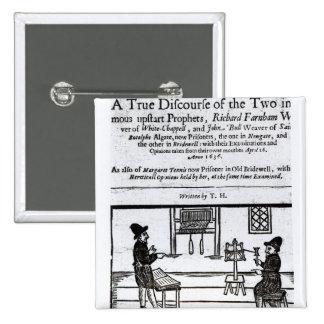 とびら「Two�の本当の会話 5.1cm 正方形バッジ