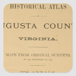 とびらAugusta郡、ヴァージニア スクエアシール