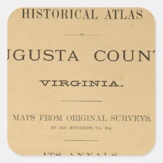 とびらAugusta郡、ヴァージニア 正方形シールステッカー