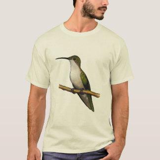 とまり木のハチドリ: 混合メディアの芸術 Tシャツ