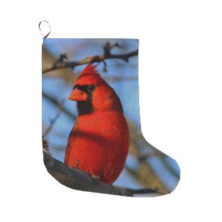 とまる北の(鳥)ショウジョウコウカンチョウ ラージクリスマスストッキング