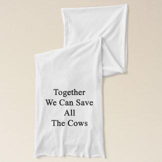 ともに私達はすべての牛を救ってもいいです スカーフ