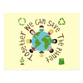 ともに私達は惑星を救ってもいいです ポストカード