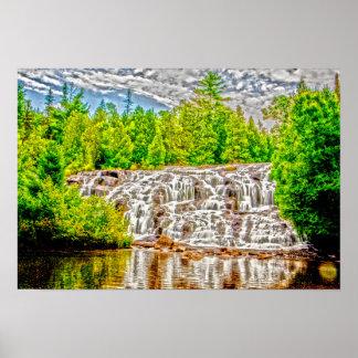 とらわれの滝、U.P.、ミシガン州 ポスター