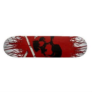 どくろ印のスケートボード 20CM スケートボードデッキ