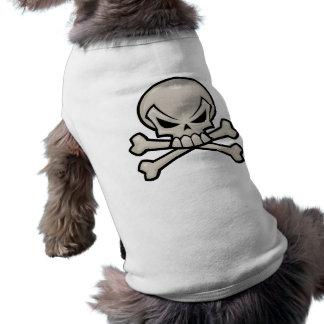 どくろ印の小犬のティー ペット服