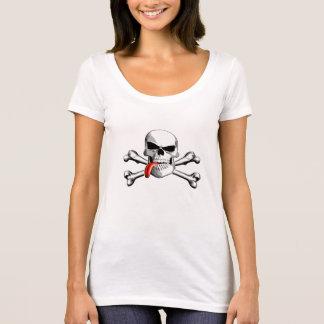どくろ印: 舌 Tシャツ