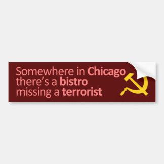 どこかにシカゴで… バンパーステッカー