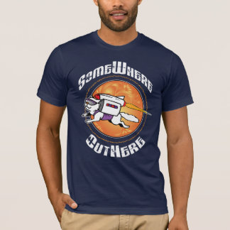 どこかにOutHere -飛んでいるな猫のデザインのTシャツ Tシャツ