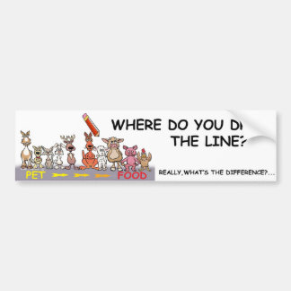 どこからラインを引出しますか。 バンパーステッカー