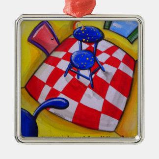 どこにいるか私が知っていたら シルバーカラー正方形オーナメント