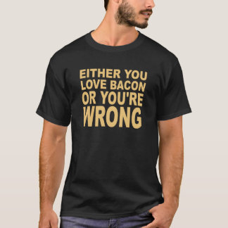 どちらか愛ベーコン(ベージュ) Tシャツ