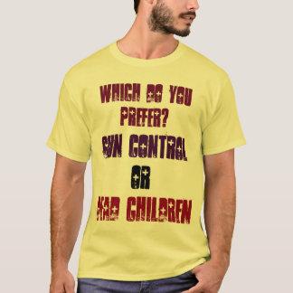 どれを好みますか。 銃砲規制か死んだ子供 Tシャツ