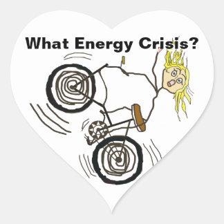 どんなエネルギー危機か。 バイクに乗って下さい! ハートシール