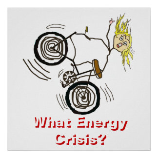 どんなエネルギー危機か。 バイクに乗って下さい! ポスター