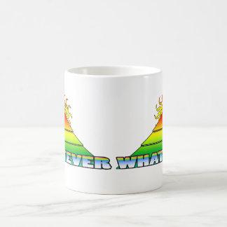どんなピラミッドの地平線のレトロ コーヒーマグカップ