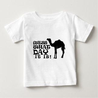 どんな日それがであるか推測-こぶ日のTシャツ ベビーTシャツ