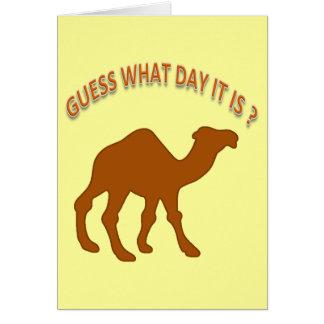 どんな日をそれがユーモアのバースデー・カードであるか推測して下さい カード