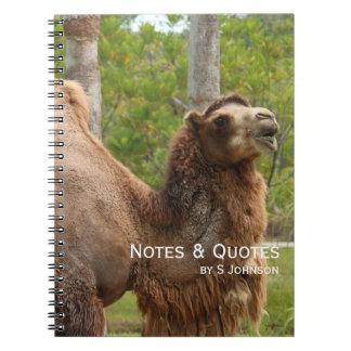 どんな日をそれがラクダのおもしろいな引用文であるか推測 ノートブック