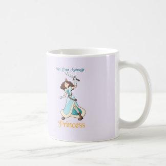 """""""ないあなたの一般のプリンセス""""の戦士の女の子 コーヒーマグカップ"""
