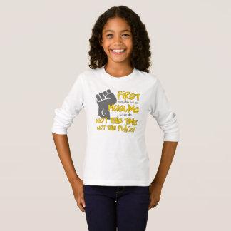 ないこの場所の女の子の長袖のTシャツ Tシャツ
