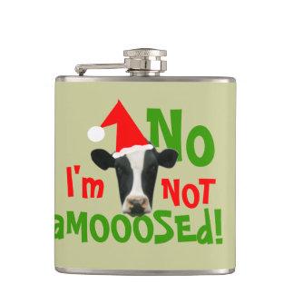 ないアメリカヘラジカのおもしろいなクリスマス牛 フラスク